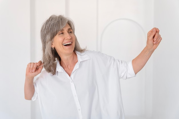 Portrait of beautiful smiling older woman