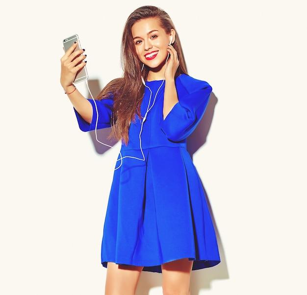 Portrait of beautiful stylish young woman