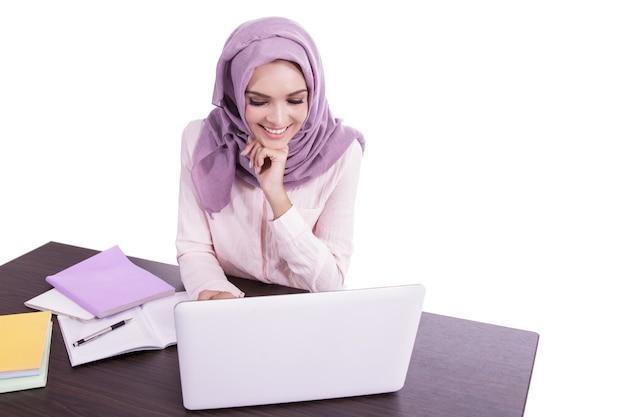 Portrait beautiful woman wearing hijab
