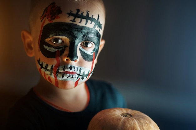 Portrait of a boy on halloween holiday