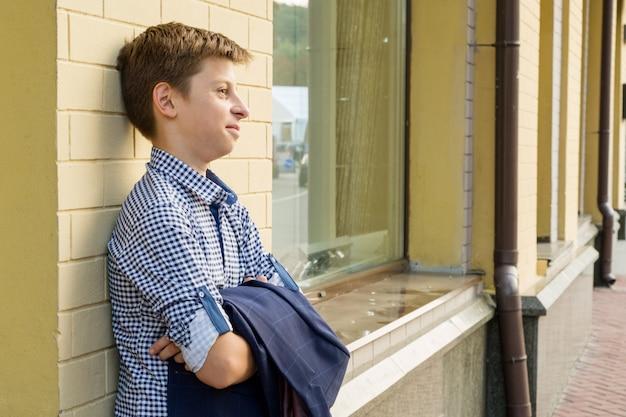 Portrait of boy teenager