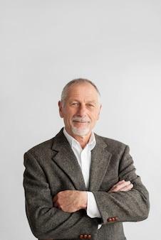 Portrait business man wearing formal suit