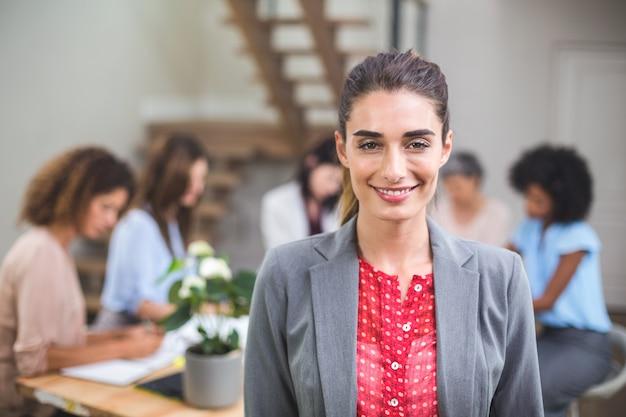 Portrait businesswoman smiling