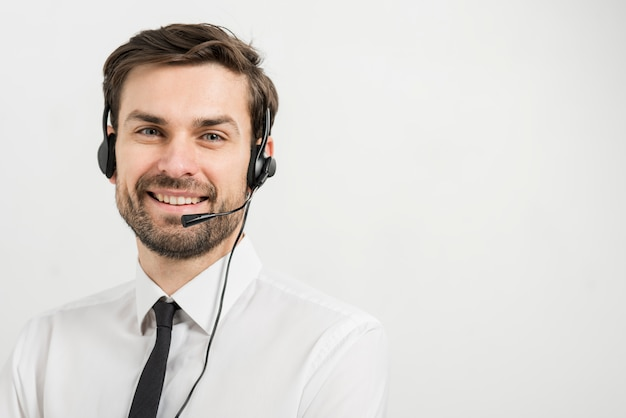Portrait of call center agent