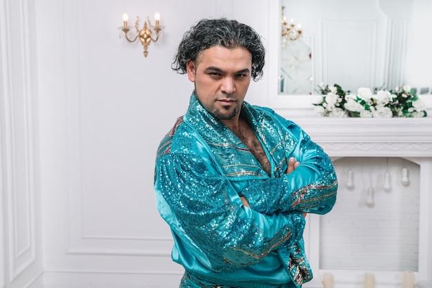 Portrait of a charismatic gypsy man