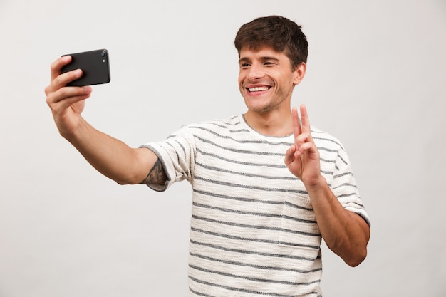 Portrait of a cheerful young man