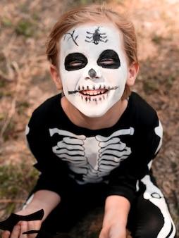 Portrait of child with halloween costume