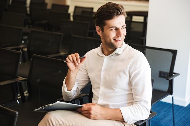 Portrait of a confident handsome formal dressed man