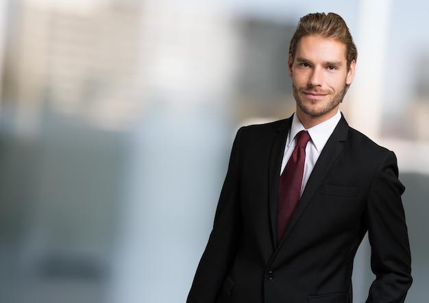 Portrait of a confident handsome young businessman
