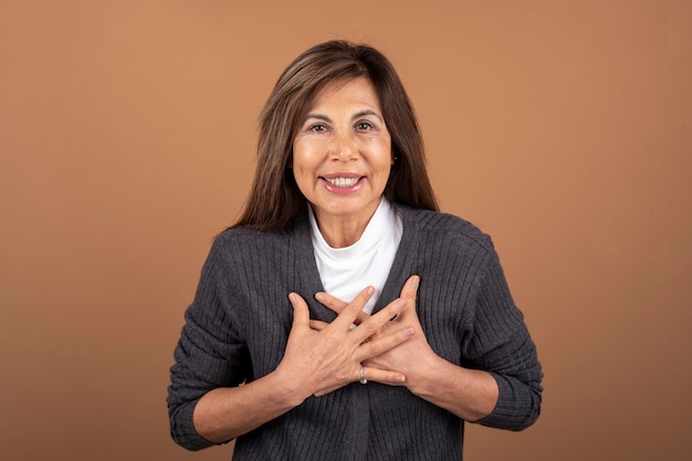 Portrait of confident senior woman posing
