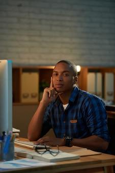 Portrait of confident white collar worker