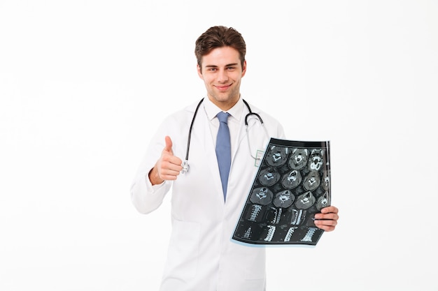Portrait of a confident young male doctor