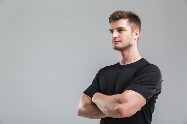Portrait of a confident young sportsman