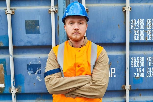 Portrait of confident young technician