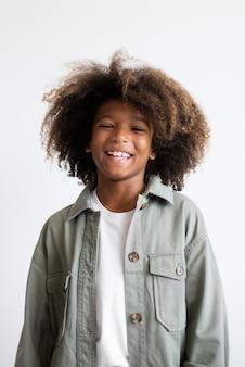 Portrait of cool teenage boy