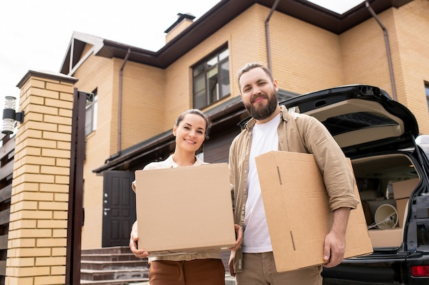 Portrait of couple have bought of dream home