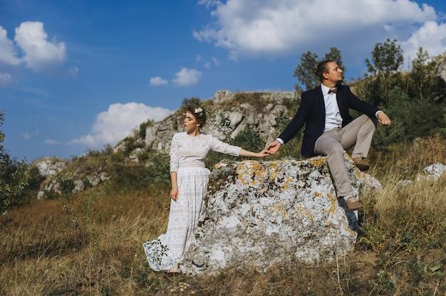 Portrait couples, tenderness love nature