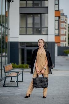Portrait of cute business woman professional