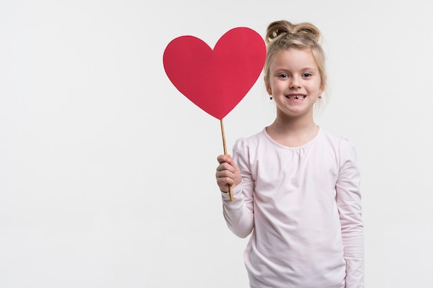 Portrait of cute little girl posing