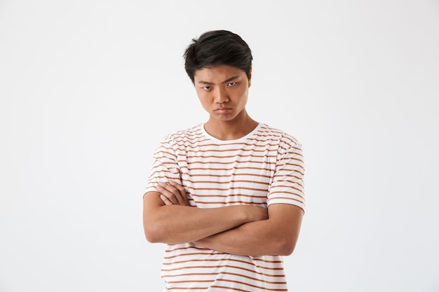 Portrait of a disappointed young asian man