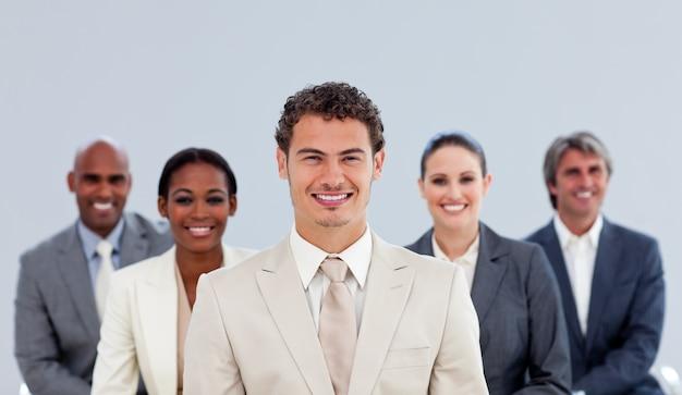 Portrait of a diverse business team