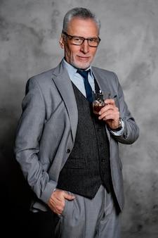 Portrait elegant old man