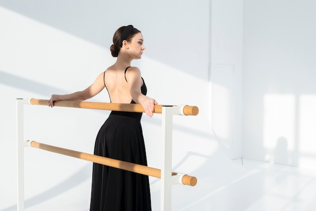 Portrait of elegant woman posing with grace