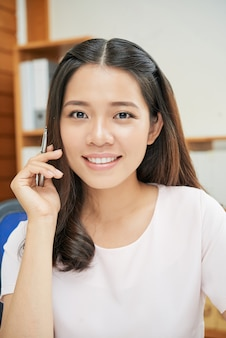 Portrait of ethnic young businesswoman