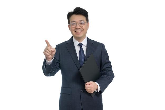 スーツの肖像画表現力豊かな男