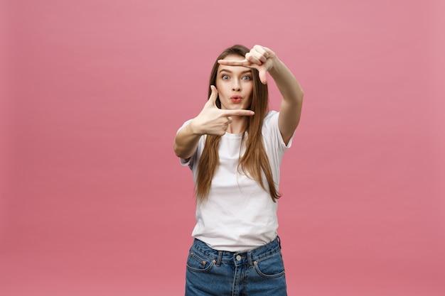 세로 표현 젊은 여자