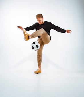 A portrait of a fan with ball