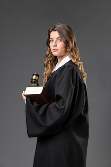 Portrait female judge Premium Photo