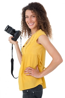 Portrait of a female photographer
