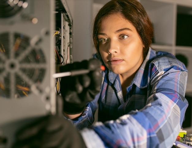 Portrait female working