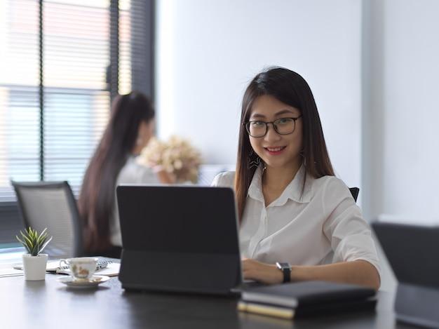 Portrait of female working