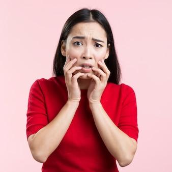 Portrait female worried