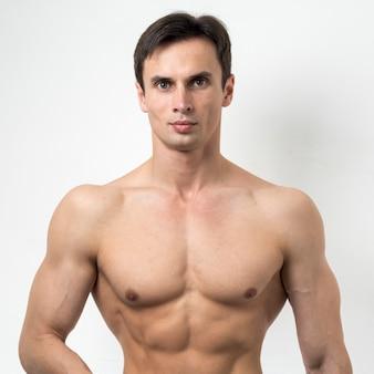 Portrait of a fit man posing