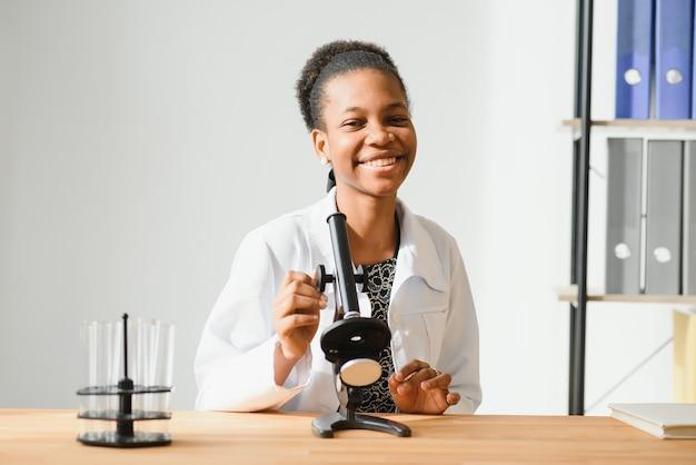 Portrait of a friendly black female doctor