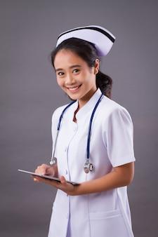 Portrait of a friendly smiling nurse
