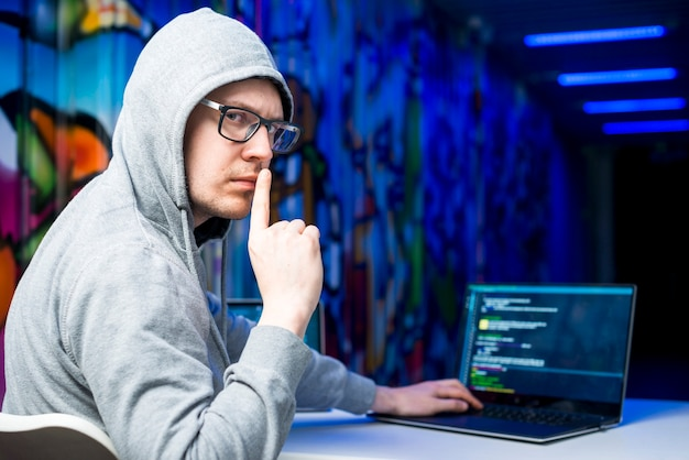 Portrait of hacker
