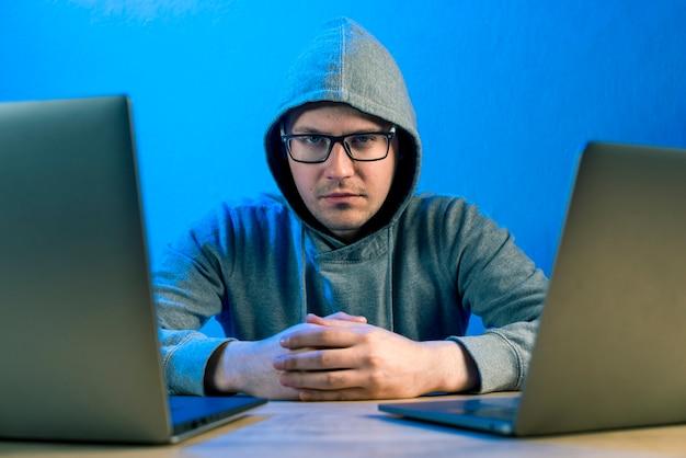 Portrait of hacker
