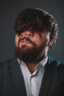 Portrait of hairy guy