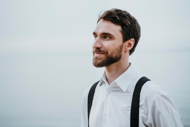 Portrait of handsome best man