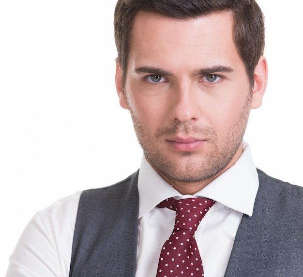 Portrait of  handsome man in suit  wall