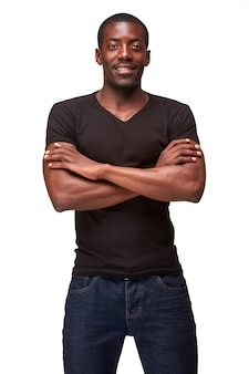 Portrait of handsome young black african smiling man