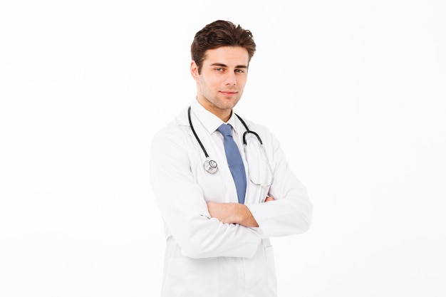Portrait of a hansome young male doctor man