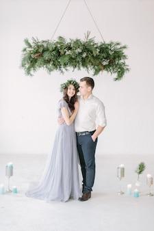 Portrait of a happy couple posing