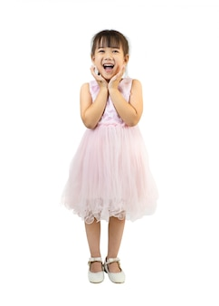 Portrait of happy and exciting little girl
