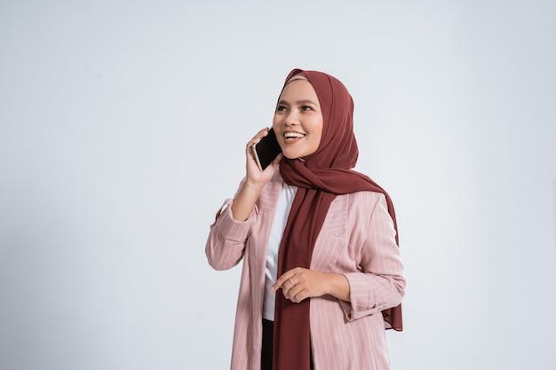 Portrait of happy muslim businesswoman