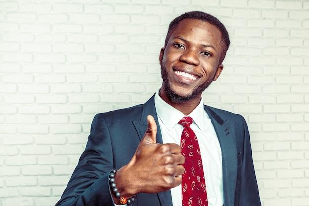 Portrait of happy, smiling business man